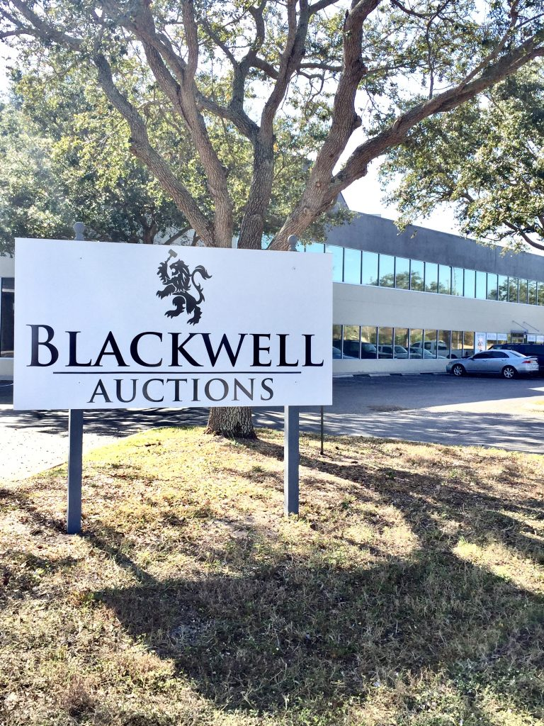 Blackwell Auctions in Clearwater, Florida.
